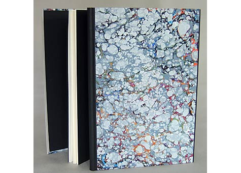 Cathy Adelman, Edward Lear, Another Nonsense Story, The Old Stile Press, GB, 1990; Dos-a-Dos structure, marbled paper binding with leather endbands.