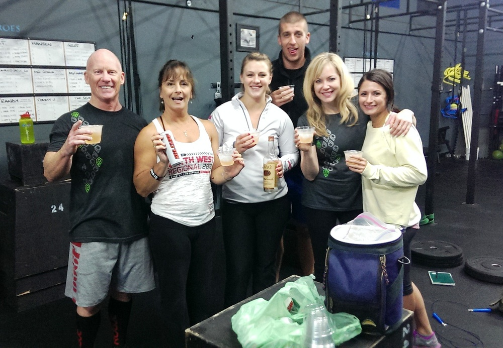 Post Open Gym Recovery Happy Hour.