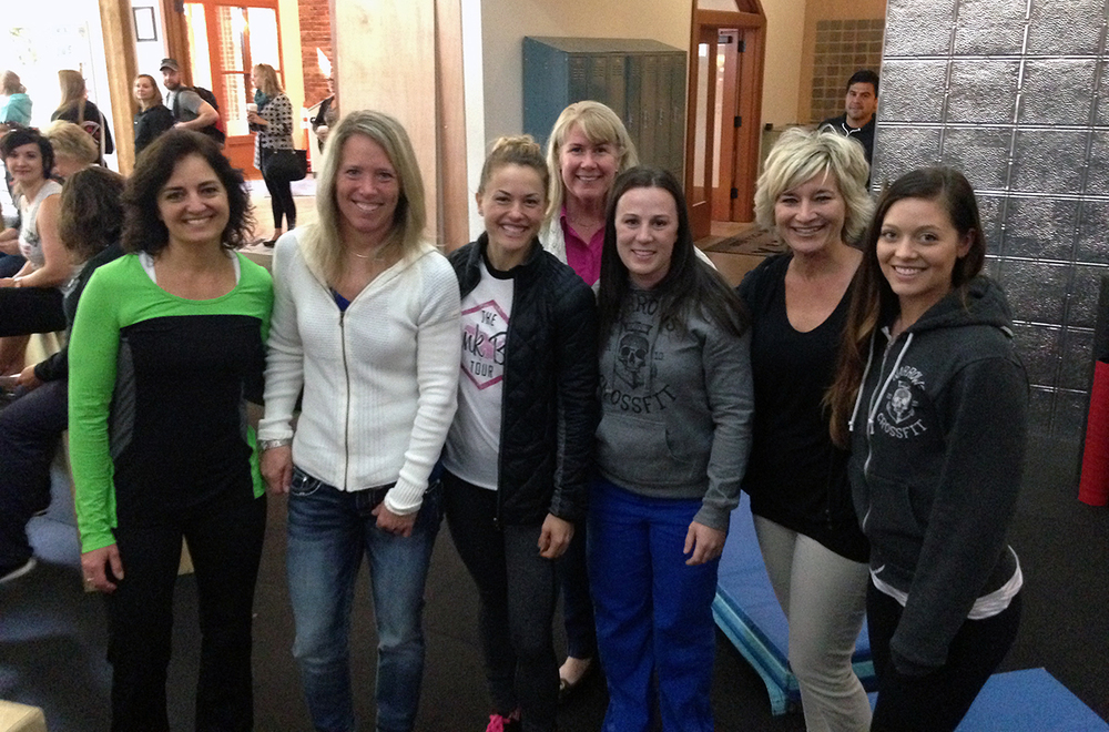 All of the ladies at The Body Review this weekend with Christmas Abbott.
