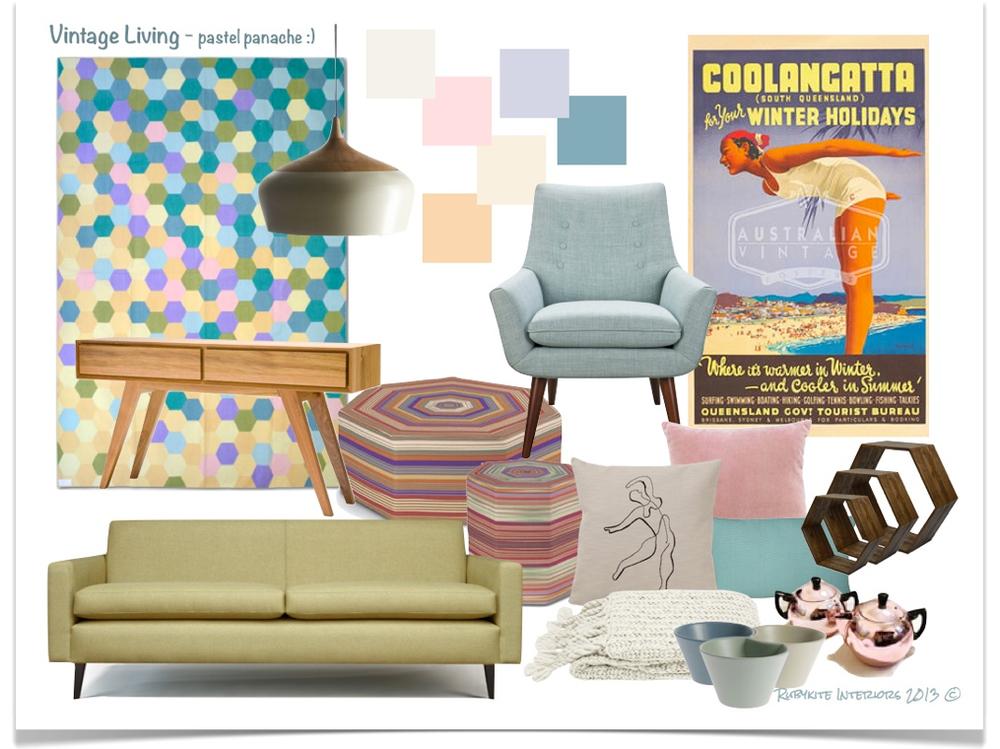 Vintage Living - pastel panache. Rubykite Interiors 2013 ©