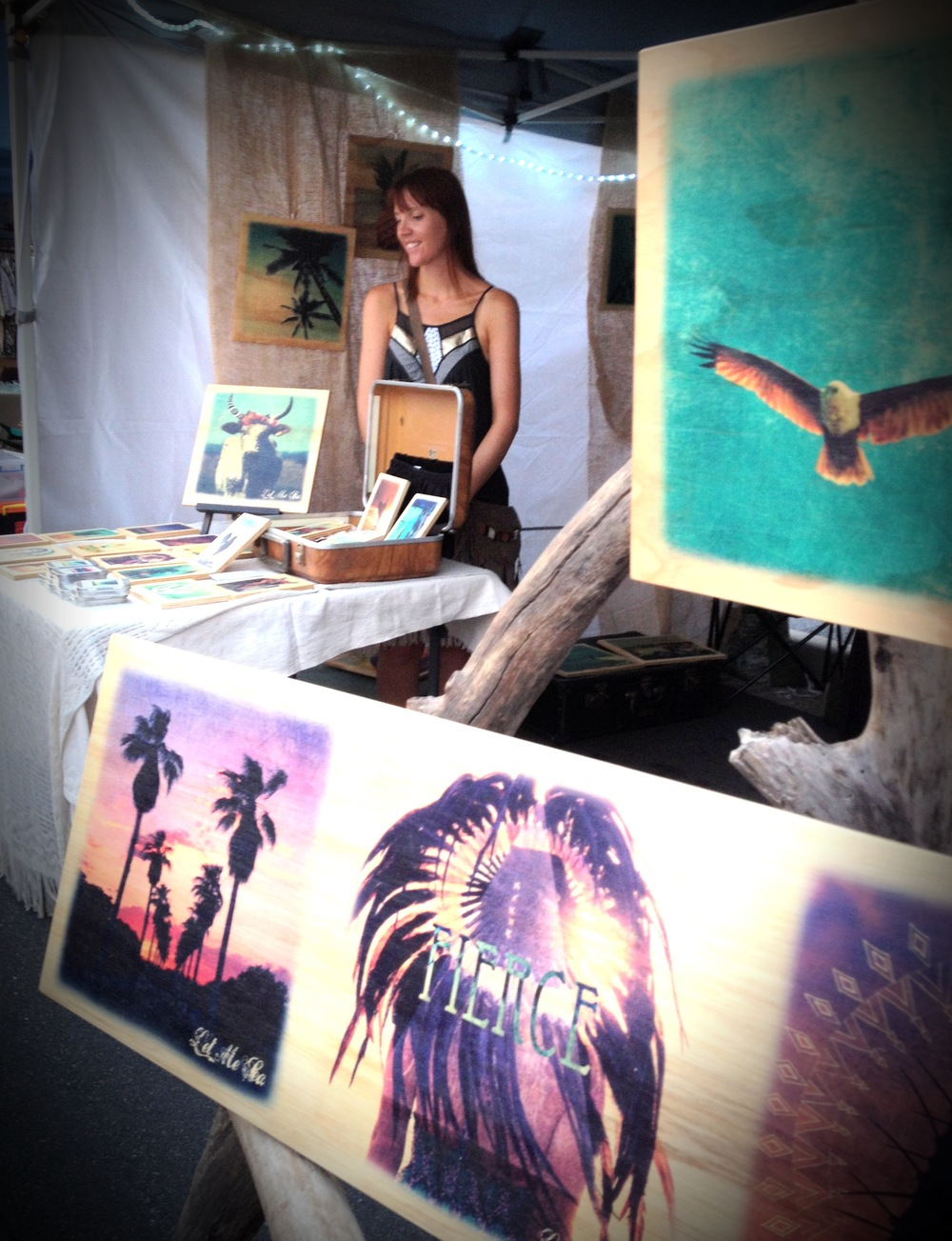 Tracy Naughton of Let Me Sea, at Nights On Ocean markets