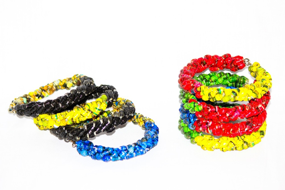 Recycled paper bracelets made by Chako (4).jpg