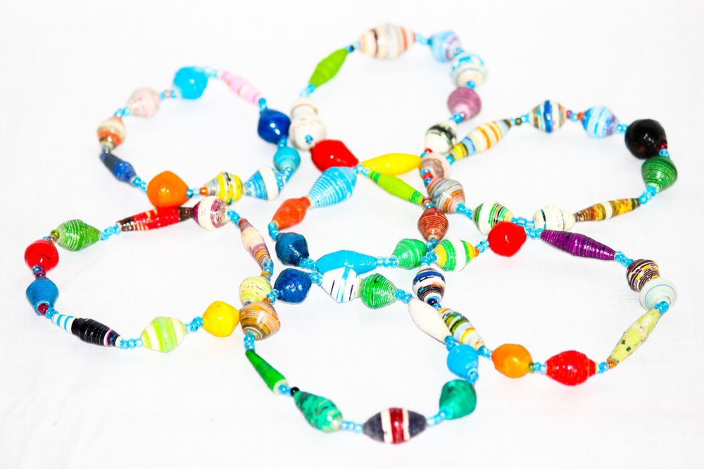 Recycled paper bracelets made Chako.jpg