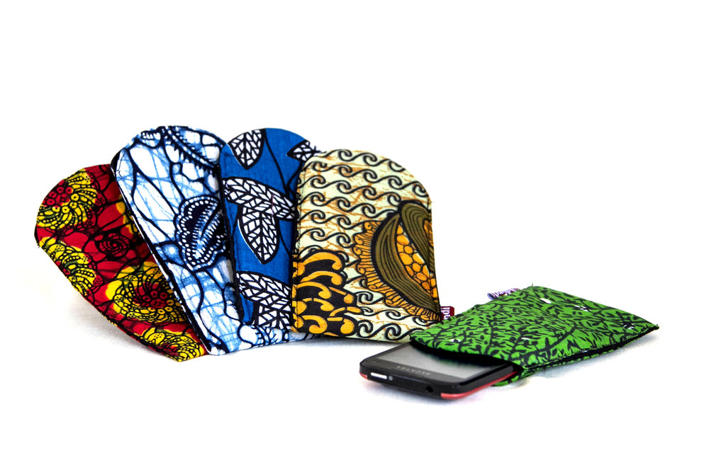 Phone covers kitenge made by Ushindi.jpg