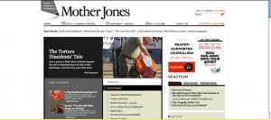 Screenshot of MotherJones.com