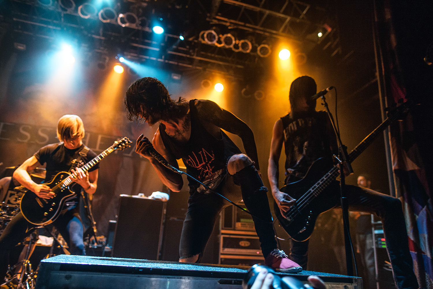 blessthefall at house of blues, cleveland. — brad heaton