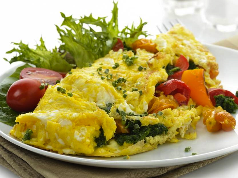 Veggie Egg Scramble: Breakfast for one