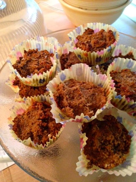 Gluten free banana chia power muffins