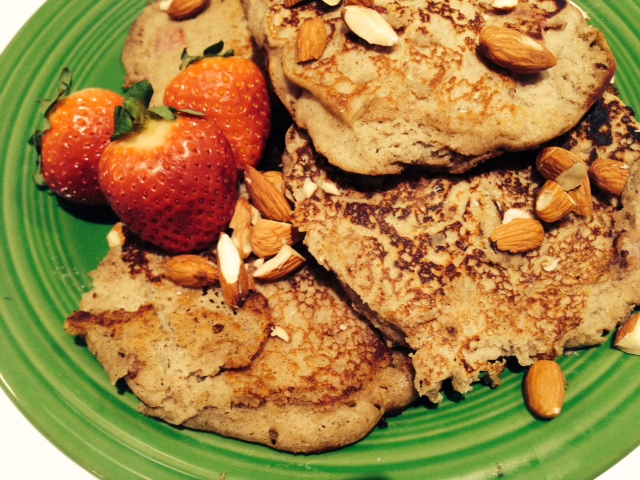 Strawberry Vanilla Gluten Free Pancakes are one of my favorite Sunday meals for the whole family