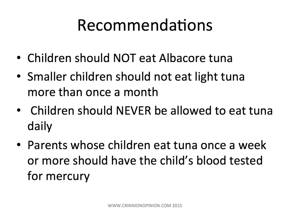 tuna recommendations for kids