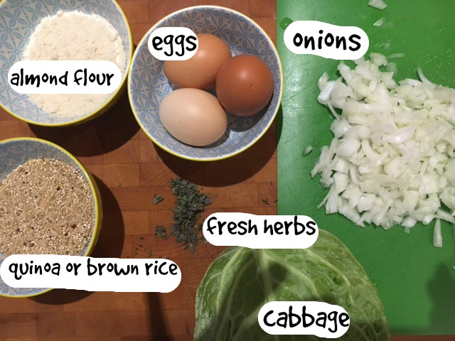 Ingredients for cabbage roll filling gluten free