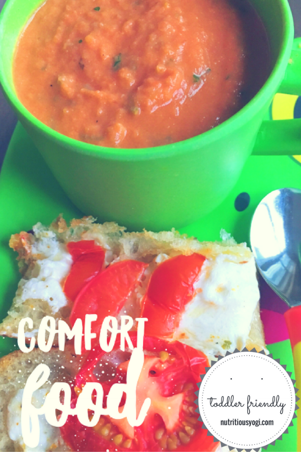 Healthy Roasted Tomato Soup & Grilled Cheese