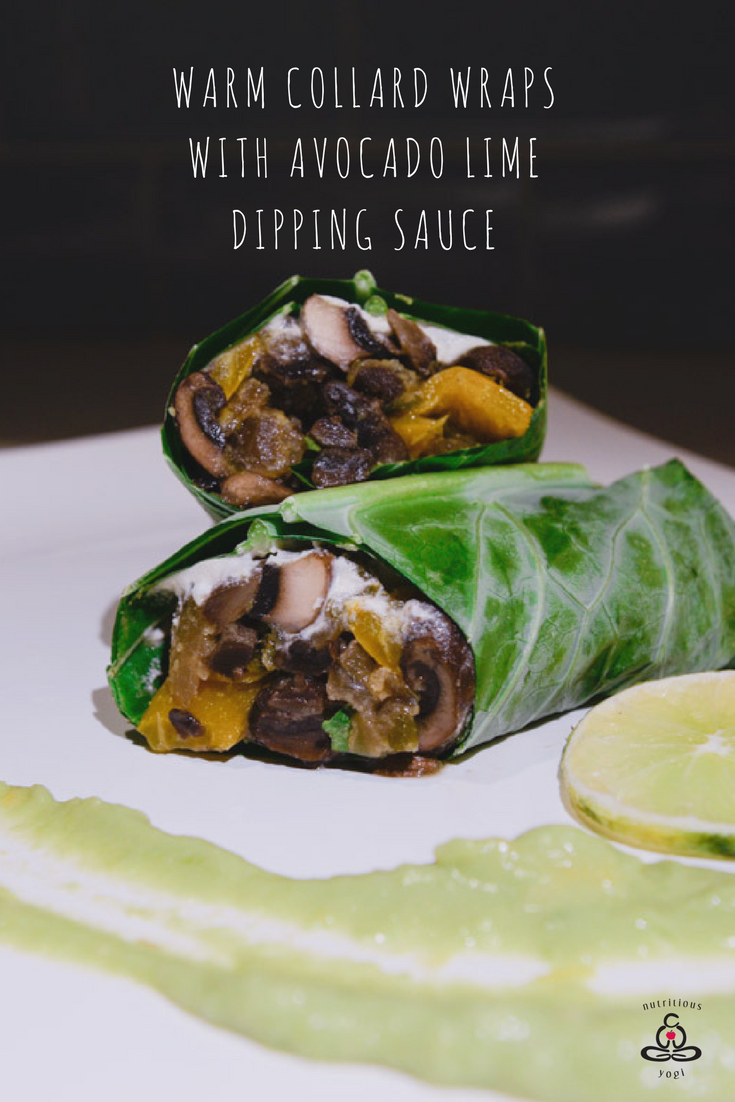 Warm Collard Wraps with Whipped Avocado Lime Sauce are even popular with non-mushroom lovers. The combination of the tangy sauce and the spicy filling is so delightful and a perfect addition to your purification program or to enjoy any day of the week