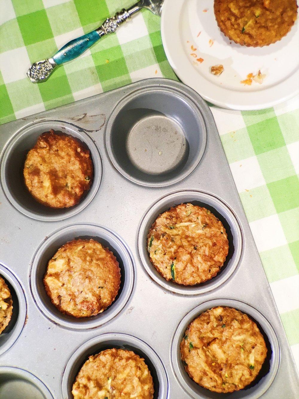 Gluten-Free Zucchini Walnut Muffins