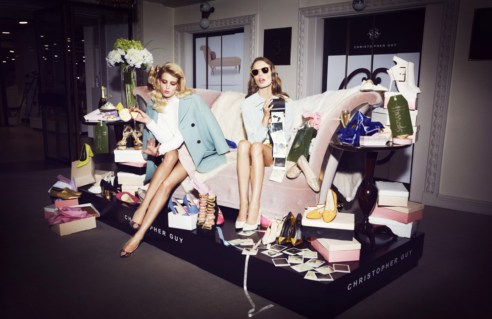 HARRODS I'M HOME CAMPAIGN WITH FANNY FRANCOIS Styling Claudia De Mais, Hair Claire Rothstein, Make up Kristina Vidic, Set Design Christopher Woods