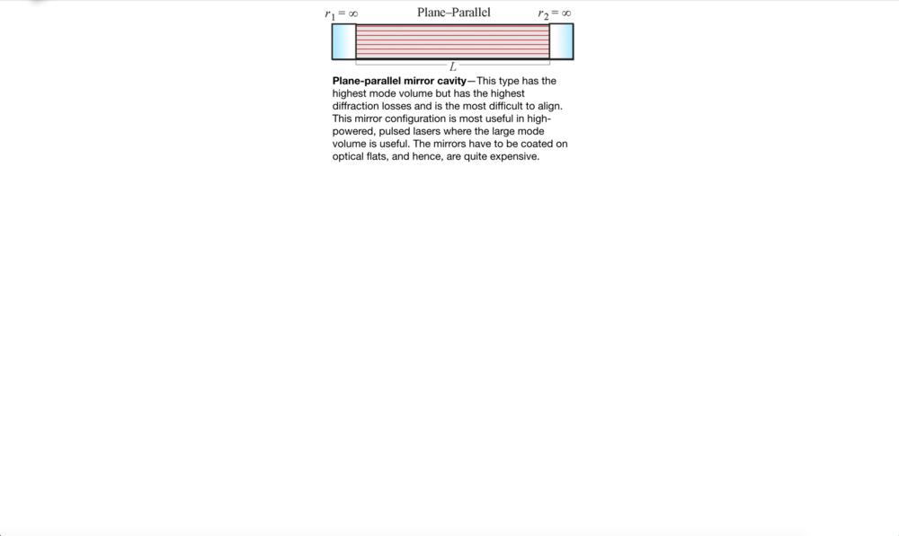 Laser Cavity Configurations