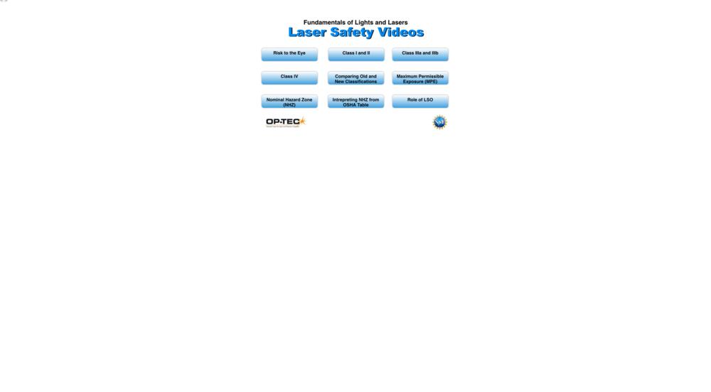 Laser Safety Videos