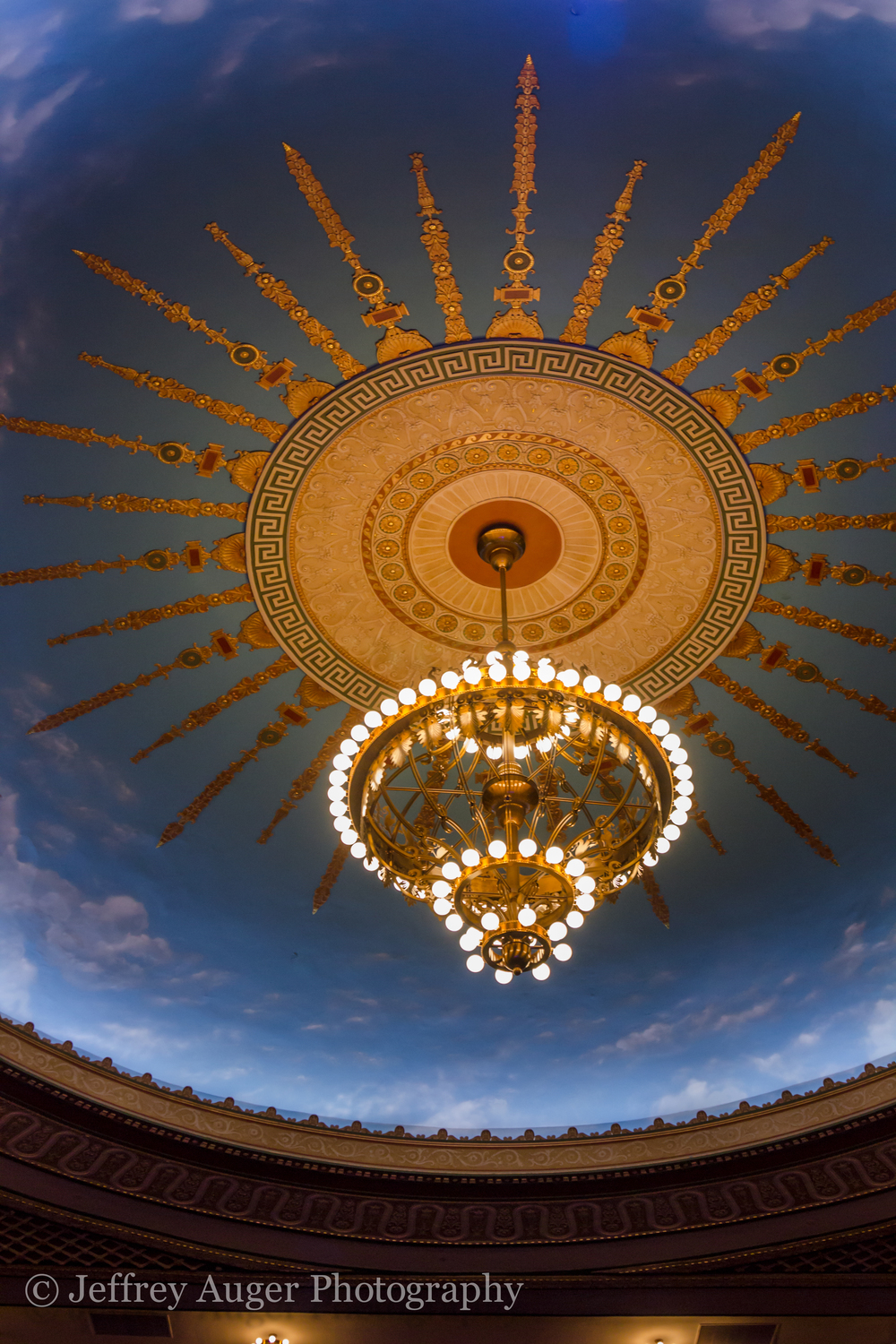 The dome of the Count Basie Theatre