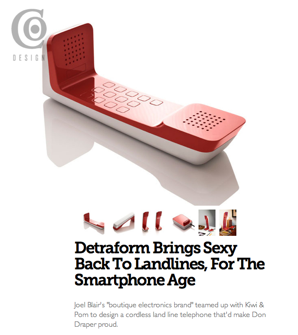 "Detraform makes it to Fast Company's venerable Co.Design today! My favourite quote, ""Check out the video, which looks like it was directed by Wes Anderson via Don Draper"". This one gets a screen shot.    http://bit.ly/j6euYK"