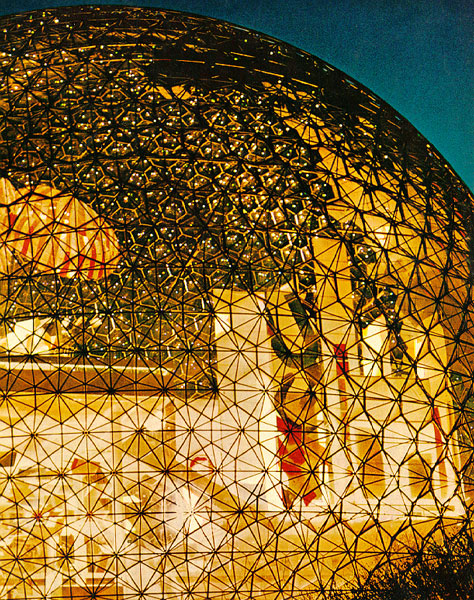 "Recently at a two year old's birthday party in Ottawa I had the opportunity to meet internationally renowned lighting consultant Claude Engle. Beginning his career with Buckminster Fuller's geodesic dome at Montreal's Expo '67 (pictured), he went on to light the Grand Louvre in Paris and the both the original World Trade Center and its replacement Freedom Tower. I'm pleased to report he immediately ""got"" the Detraform model 500 and wanted one for his home, which reminded us of what the marketing books say about target markets and tribes. The model 500 is initially directed toward people who enjoy architecture, follow design blogs, and know Wallpaper is also a magazine title. If your thing is more guerilla gardening or freeganism than you might not ""get it"" and that's okay. Or if you want a home phone with text messaging and weather reports there's another brand for you. We're not attempting to create ""manufactured demand"". Neither are we trying to draw you in with seductive branding. The Detraform model 500 design stands on its own, I didn't even put the brand name on the handset. If you desire a simple, elegant, well built home phone pre-order one and we're on our way. If you're satisfied with the current phone offering or gave up your land line long ago, don't dismiss us, maybe we can do business with a future product. See Claude Engle's website for a timeline of his high flying career. www.crengle.com"