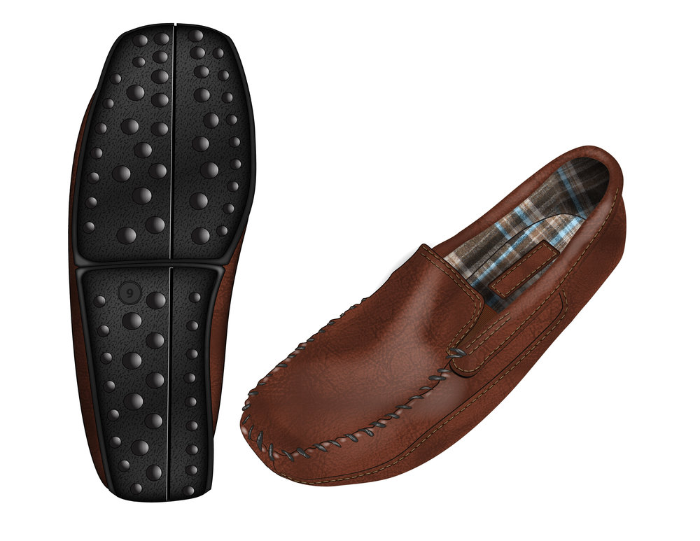 Leather Twin Gore Slipper Concept