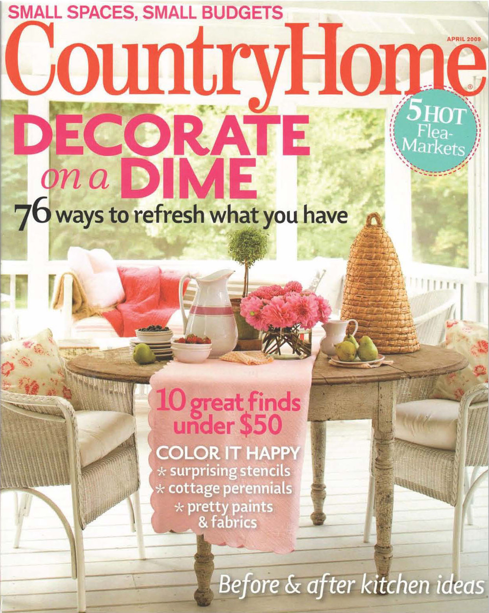 Country Home Magazine redesign, 2008