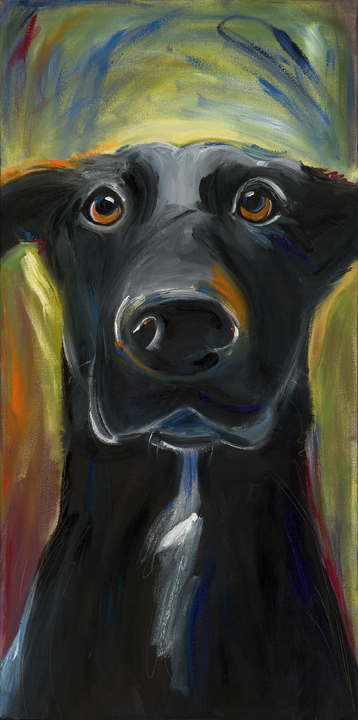 """""""Blackie""""  The works represented here are samples and are not intended for duplication or print without the expressed permission of the artist. All work is © Kathryn Finney."""