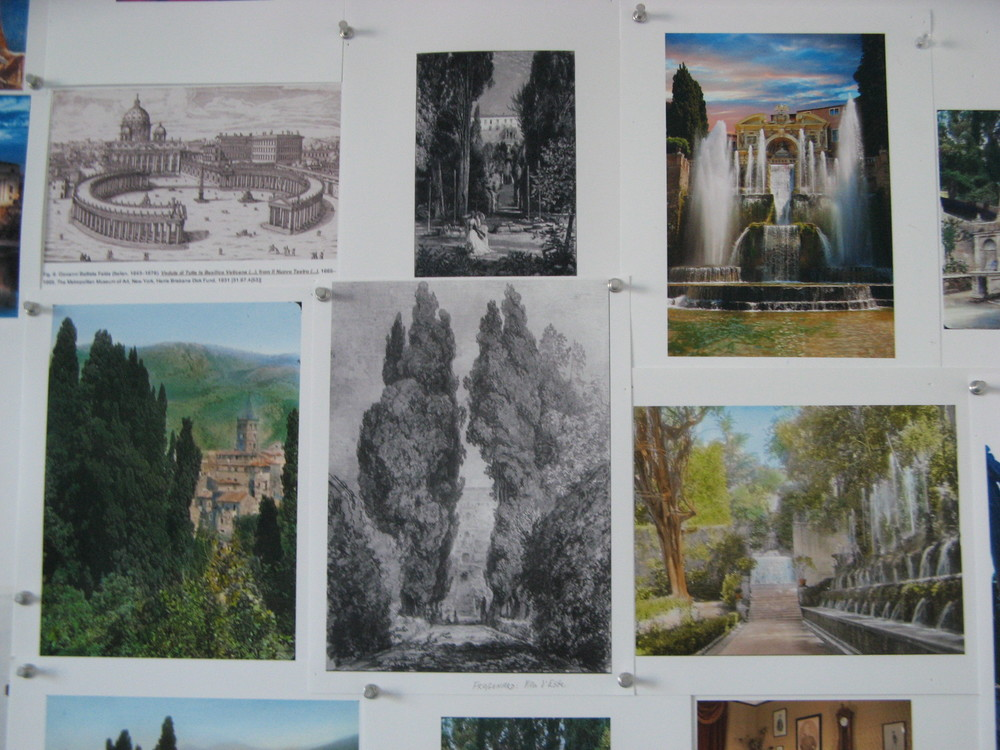 Villa d'Este fountains and cypresses.JPG