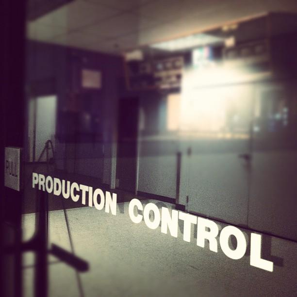 Production control.  http://instagr.am/p/HFc9-wt3m7/  Production control.
