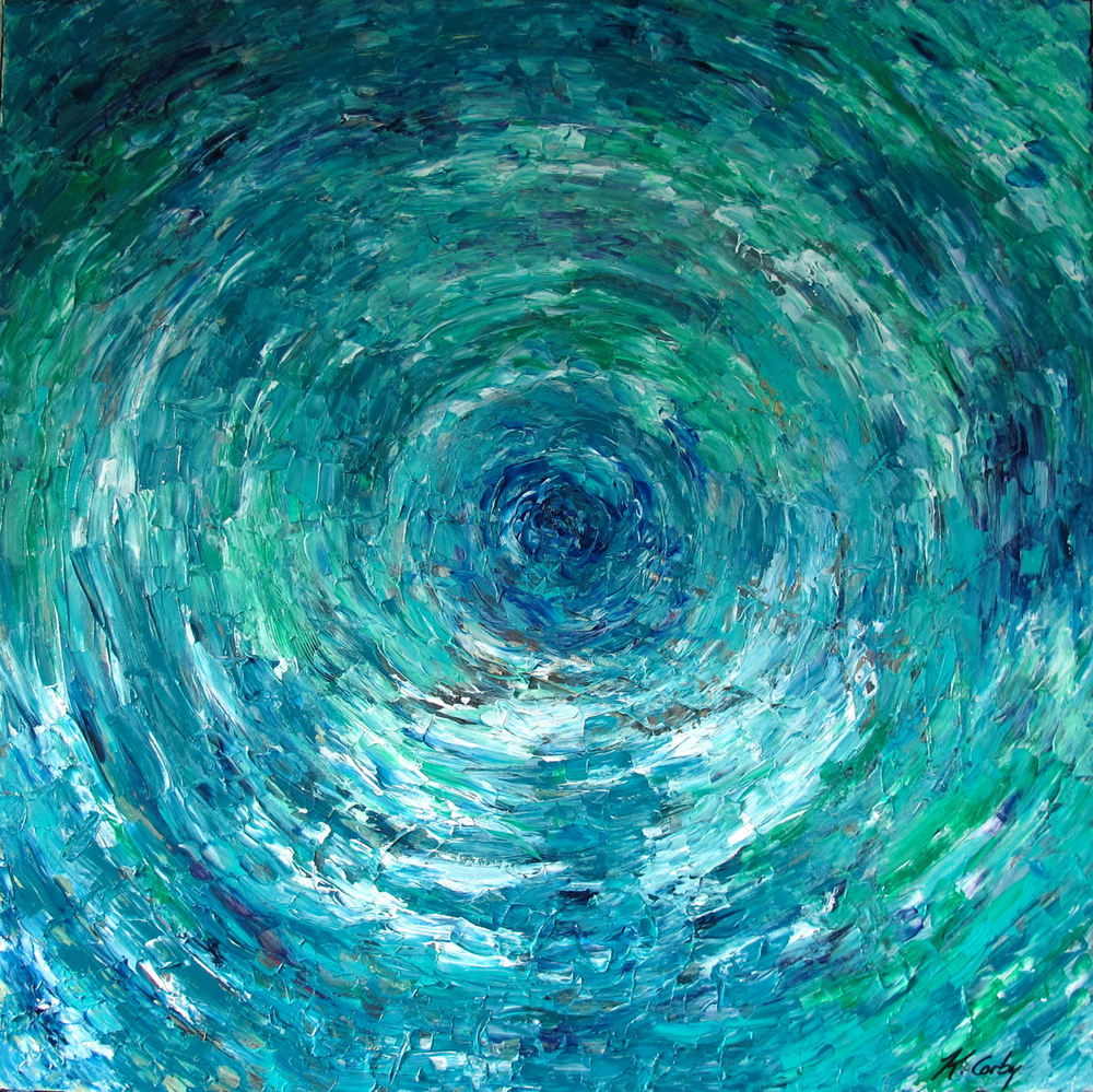 "Vortex | 30"" x 30"" Acrylic on Canvas 