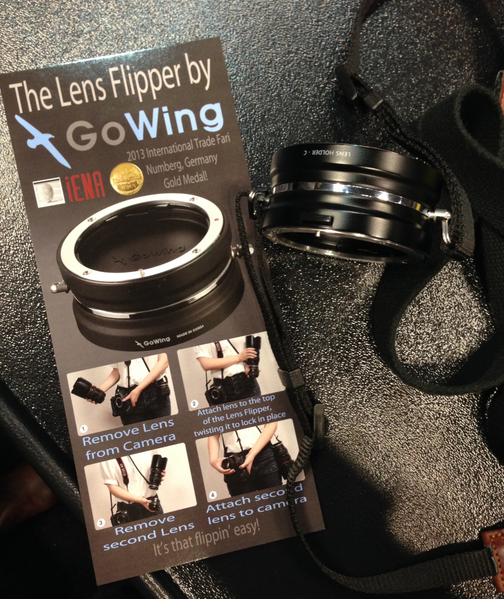 The Lens Flipper would be really useful for event photographers who swap lenses frequently.