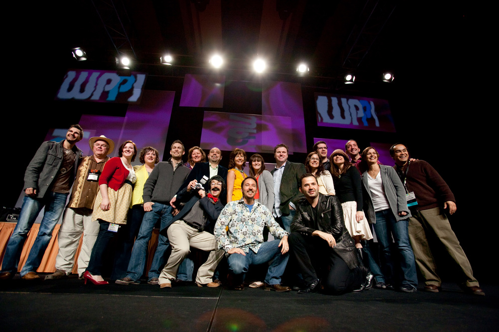 The speakers after one of the popular Photographers Ignite presentations at WPPI