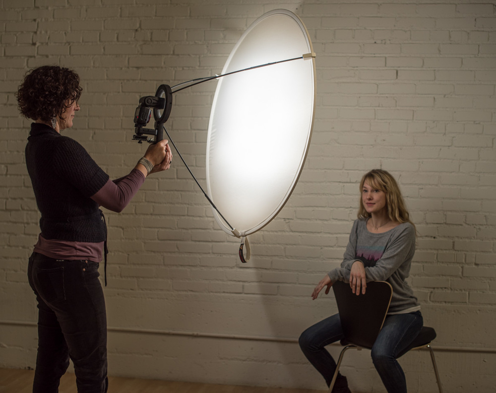 The brand new LunaGrip marrys your speedlight and diffusion disk for beautiful light anywhere