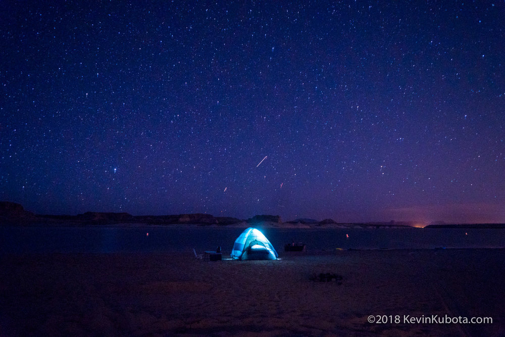 Our neighbors camping at Lake Powell.