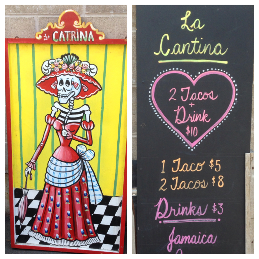 La Catrina greets you over at La Cantina.