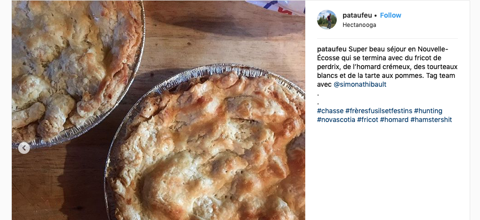 The aforementioned pies,  via Pat's IG feed.