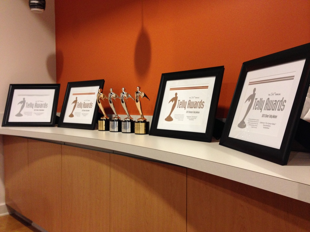Update:  The awards now proudly display in the front lobby of our office.