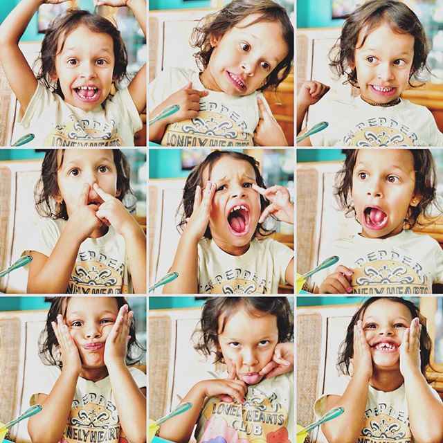 The many #faces of my #niece  #shotoniphone #layout