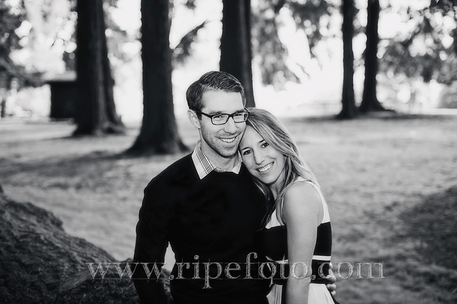 Portrait of couple in Portland, Oregon by Ripe Photography.