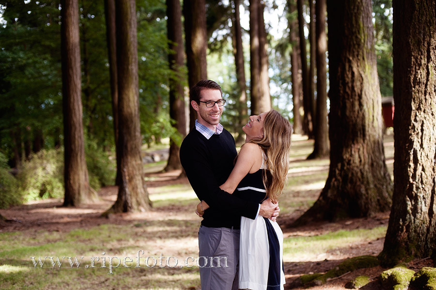 Portrait of couple in park by Ripe Photography.