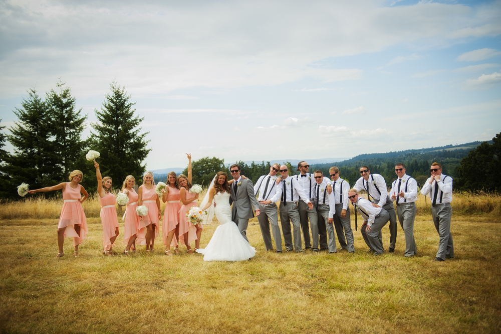 Portrait of wedding party by Ripe Photography.