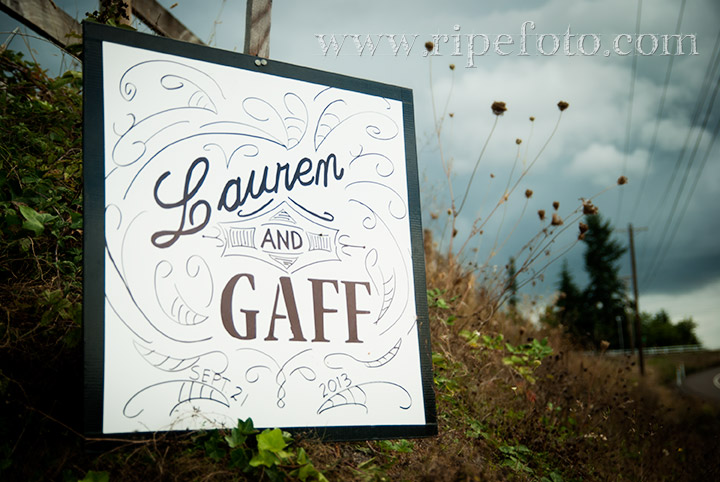 Wedding sign by Ripe Photography.