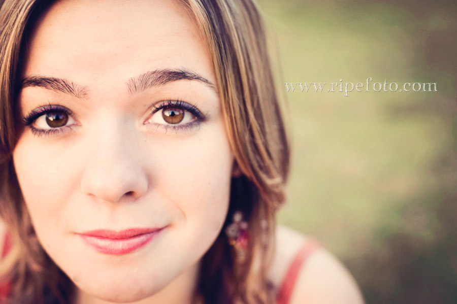 Close up portrait of teen girl by Ripe Photography.