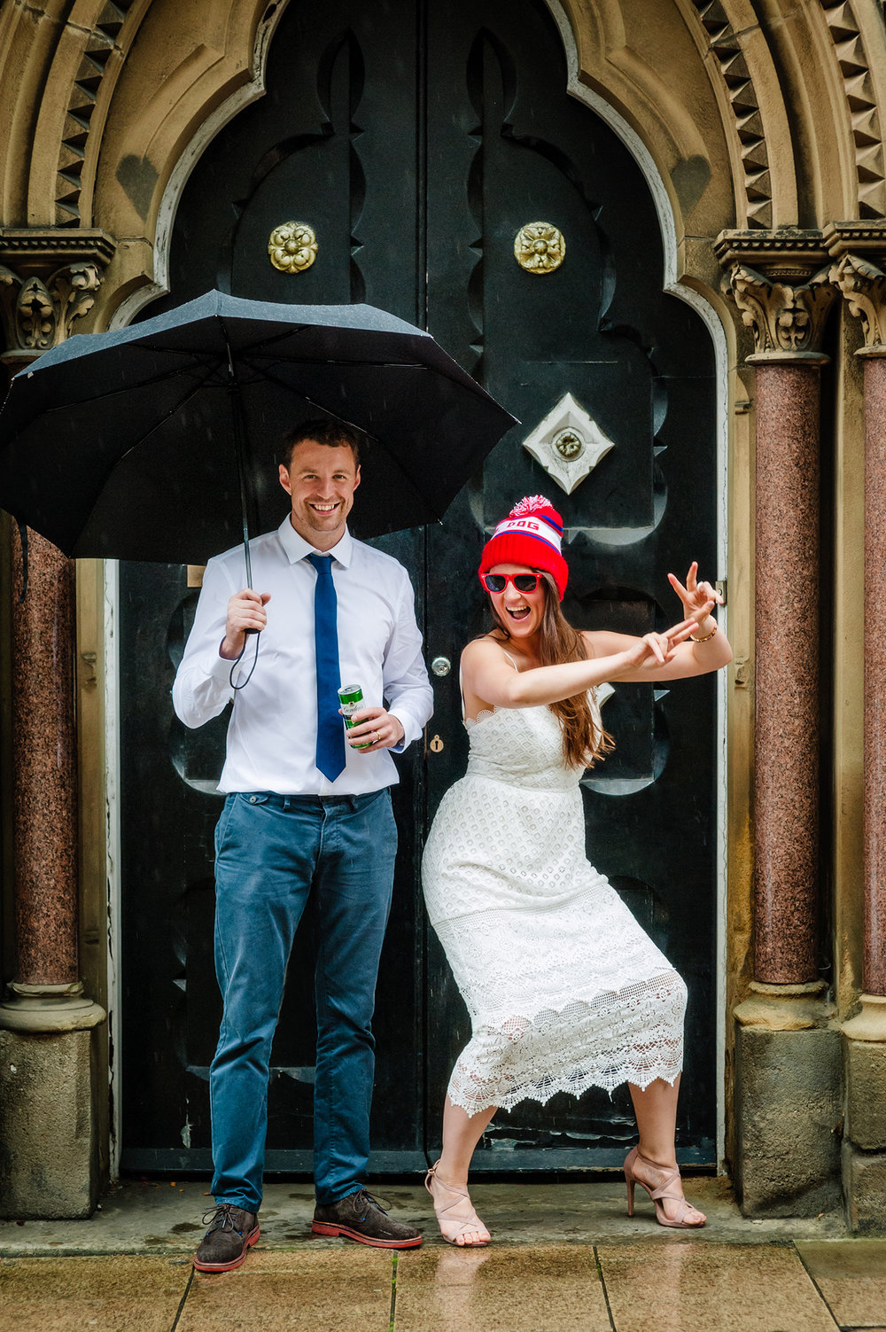 Portrait of wedding portraits by wedding photographers at Ripe Photography in Leeds, England.