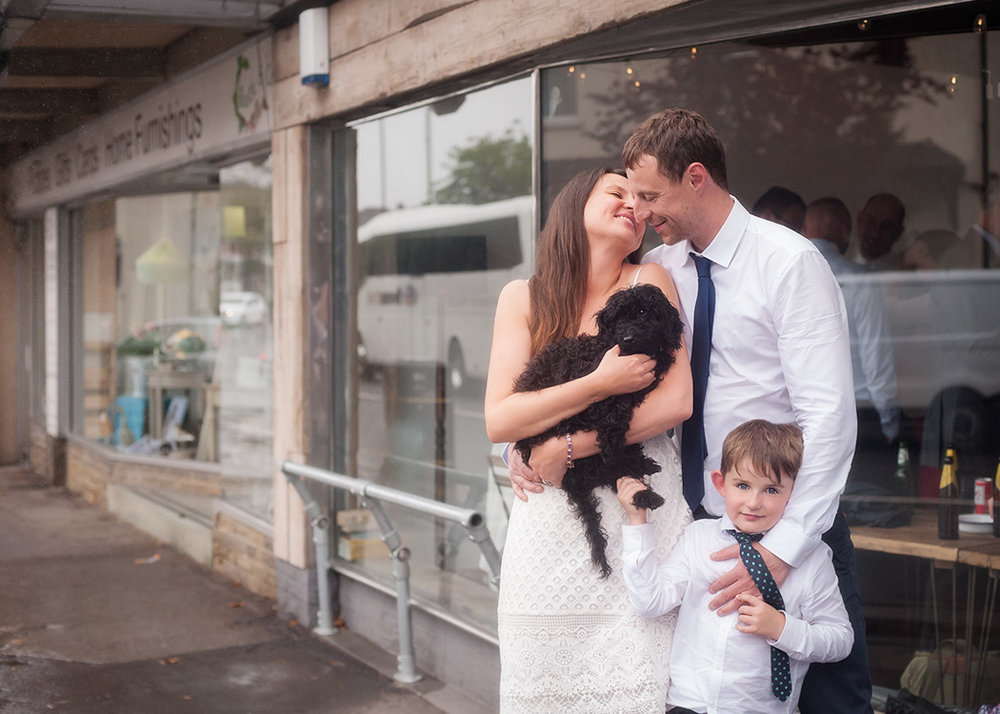 Portrait of family by wedding photographers at Ripe Photography in Leeds, England.