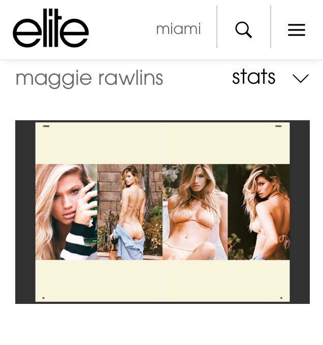 ELITE MODEL MANAGEMENT MIAMI - Maggie Rawlins in Hydra Brazilian BikiniMarch '18