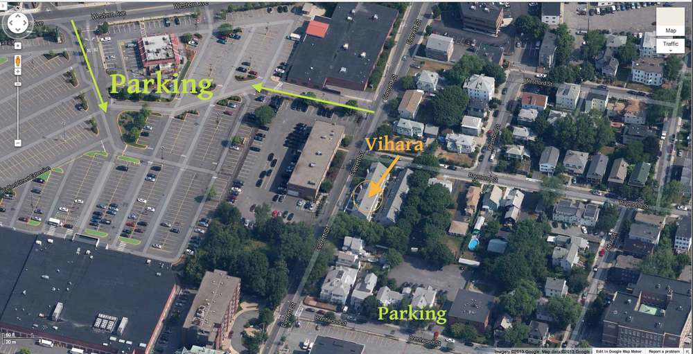 There is parking available at all times on Brentwood St. and all streets south along Everett