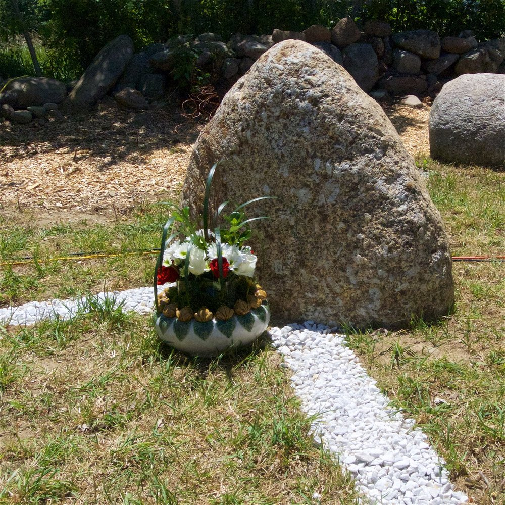 One of the stones marking the boundary of the Jetavana ordination precinct