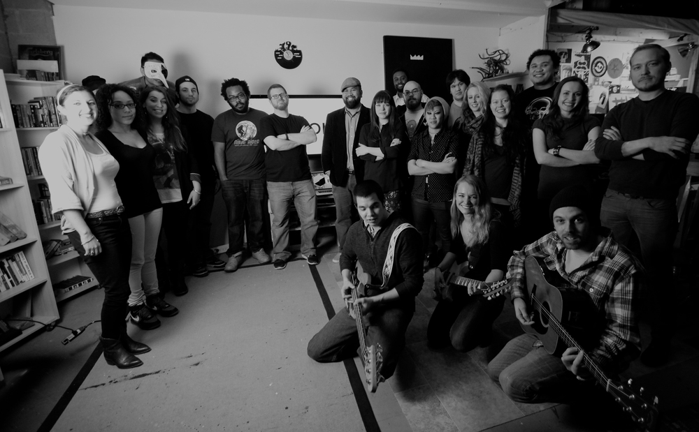 After our video shoot to launch the venue/space. Photo: John Lee