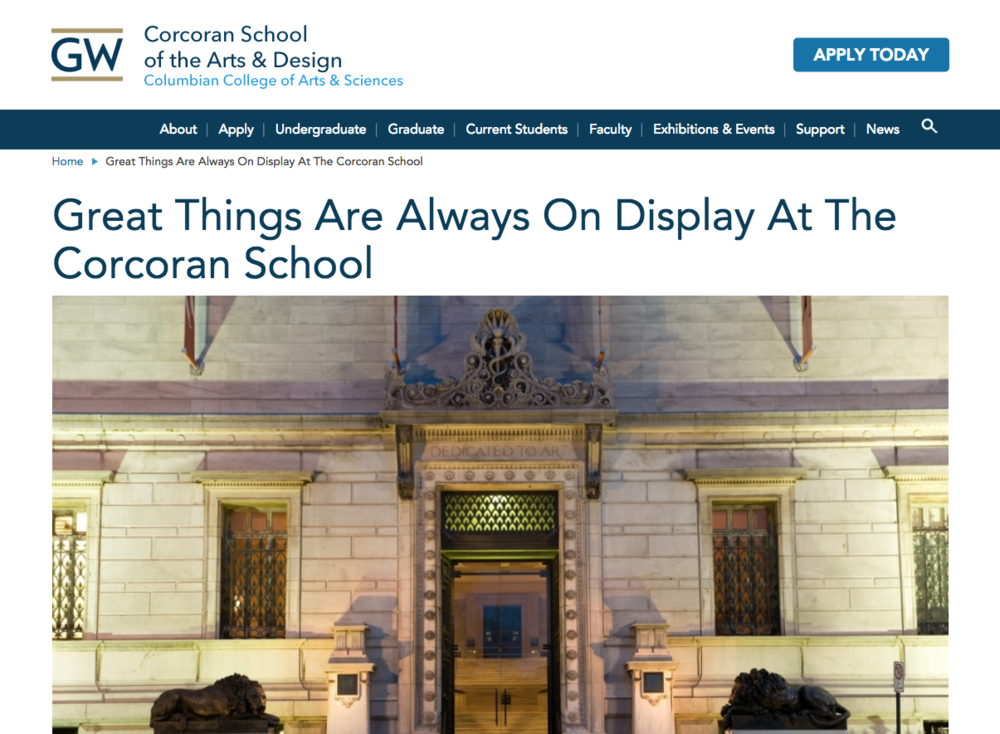 AFA - DIGITAL MEDIA DESIGN - Corcoran College of Art + Design**Closed 2014, Merged with GWU